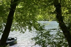 Barque sur le lac du val