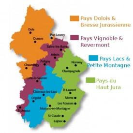 Les 4 micro-régions du département du Jura