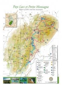 Carte de la route des lacs