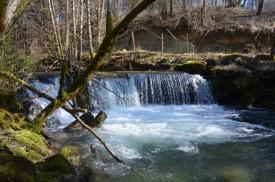 """écluse sur la rivière """"la Sirène"""""""