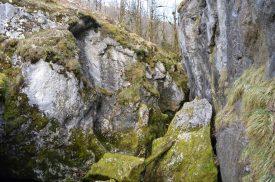Les pertes de l'Ain - effondrement de la voûte calcaire - photo du 12 mars 2017
