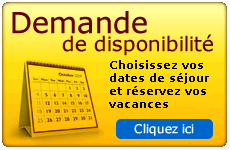 Demande de disponibilité de location de chambres pour des vacances dans le Jura
