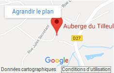 Plan d'accès et de localisation des chambres de campagne de l'Auberge du tilleul