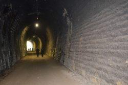Conliège tunnel de l'ancienne voie ferrée plm transformée en chemin de randonnée
